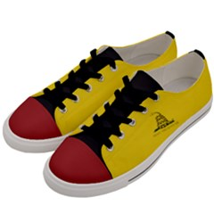 Gadsden Flag Don t Tread On Me Men s Low Top Canvas Sneakers by snek
