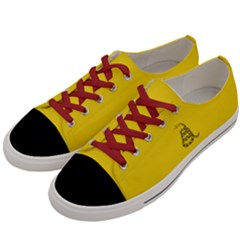 Gadsden Flag Don t Tread On Me Women s Low Top Canvas Sneakers by MAGA