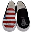 Gadsden Flag Don t tread on me Men s Canvas Slip Ons View1