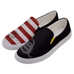 Gadsden Flag Don t Tread On Me Men s Canvas Slip Ons by snek