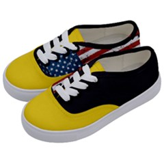 Gadsden Flag Don t Tread On Me Kids  Classic Low Top Sneakers by MAGA