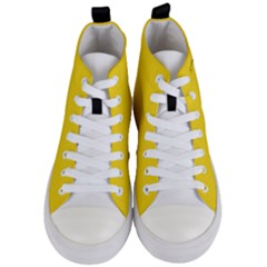 Gadsden Flag Don t Tread On Me Women s Mid Top Canvas Sneakers