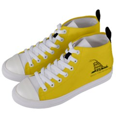 Gadsden Flag Don t Tread On Me Women s Mid Top Canvas Sneakers by MAGA