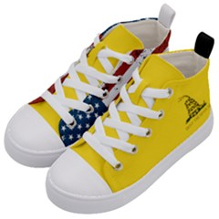 Gadsden Flag Don t Tread On Me Kid s Mid Top Canvas Sneakers by snek