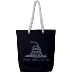 Gadsden Flag Don t Tread On Me Full Print Rope Handle Tote (small) by snek