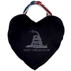 Gadsden Flag Don t Tread On Me Giant Heart Shaped Tote by snek