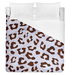 Skin5 White Marble & Reddish Brown Wood Duvet Cover (queen Size) by trendistuff