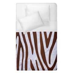 Skin4 White Marble & Reddish Brown Wood Duvet Cover (single Size) by trendistuff