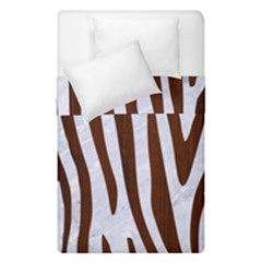 Skin4 White Marble & Reddish Brown Wood Duvet Cover Double Side (single Size) by trendistuff