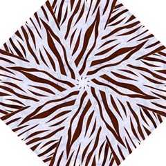 Skin3 White Marble & Reddish Brown Wood (r) Folding Umbrellas by trendistuff
