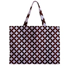 Circles3 White Marble & Reddish Brown Wood (r) Zipper Mini Tote Bag by trendistuff