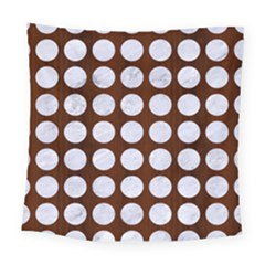 Circles1 White Marble & Reddish Brown Wood Square Tapestry (large) by trendistuff