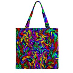Artwork By Patrick Colorful 18 Zipper Grocery Tote Bag by ArtworkByPatrick