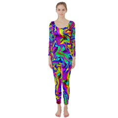 Artwork By Patrick Colorful 18 Long Sleeve Catsuit by ArtworkByPatrick