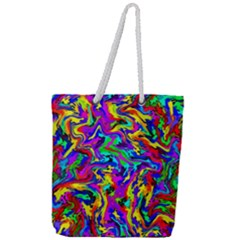 Artwork By Patrick Colorful 18 Full Print Rope Handle Tote (large) by ArtworkByPatrick