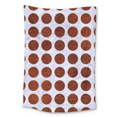 Circles1 White Marble & Reddish Brown Leather (r) Large Tapestry by trendistuff