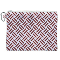 Woven2 White Marble & Red Wood (r) Canvas Cosmetic Bag (xxl) by trendistuff