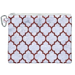 Tile1 White Marble & Red Wood (r) Canvas Cosmetic Bag (xxl) by trendistuff