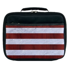Stripes2white Marble & Red Wood Lunch Bag
