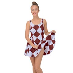 Square2 White Marble & Red Wood Inside Out Dress
