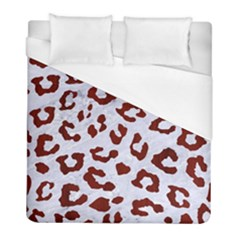 Skin5 White Marble & Red Wood Duvet Cover (full/ Double Size) by trendistuff
