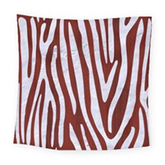 Skin4 White Marble & Red Wood (r) Square Tapestry (large) by trendistuff