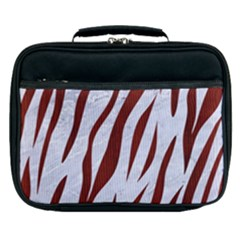 Skin3 White Marble & Red Wood (r) Lunch Bag
