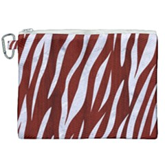 Skin3 White Marble & Red Wood Canvas Cosmetic Bag (xxl) by trendistuff