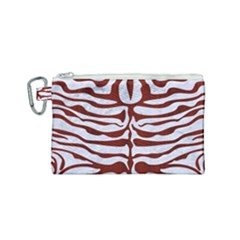 Skin2 White Marble & Red Wood (r) Canvas Cosmetic Bag (small) by trendistuff