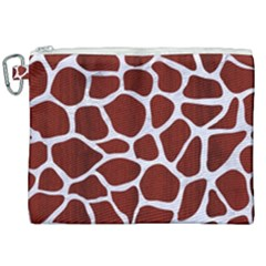 Skin1 White Marble & Red Wood (r) Canvas Cosmetic Bag (xxl) by trendistuff