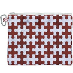 Puzzle1 White Marble & Red Wood Canvas Cosmetic Bag (xxxl) by trendistuff