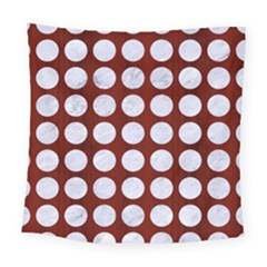 Circles1 White Marble & Red Wood Square Tapestry (large) by trendistuff