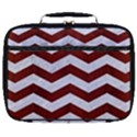 CHEVRON3 WHITE MARBLE & RED WOOD Full Print Lunch Bag View1