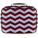 CHEVRON3 WHITE MARBLE & RED WOOD Full Print Lunch Bag View2