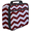 CHEVRON3 WHITE MARBLE & RED WOOD Full Print Lunch Bag View3