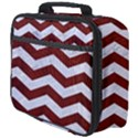 CHEVRON3 WHITE MARBLE & RED WOOD Full Print Lunch Bag View4