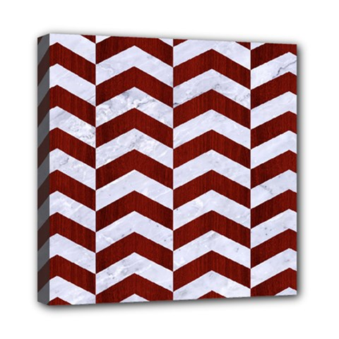 Chevron2 White Marble & Red Wood Multi Function Bag	 by trendistuff