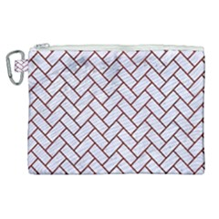 Brick2 White Marble & Red Wood (r) Canvas Cosmetic Bag (xl) by trendistuff