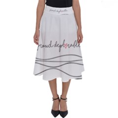 Proud Deplorable Maga Women For Trump With Heart Perfect Length Midi Skirt
