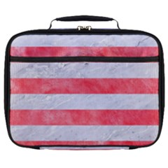 Stripes2white Marble & Red Watercolor Full Print Lunch Bag by trendistuff