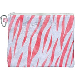 Skin3 White Marble & Red Watercolor (r) Canvas Cosmetic Bag (xxxl) by trendistuff