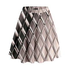 3d Abstract Pattern High Waist Skirt