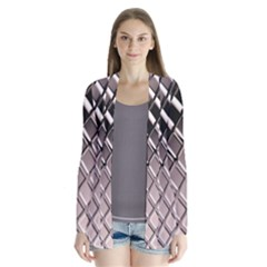 3d Abstract Pattern Drape Collar Cardigan by Sapixe