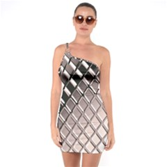 3d Abstract Pattern One Soulder Bodycon Dress