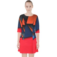 3d And Abstract Pocket Dress