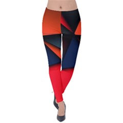 3d And Abstract Velvet Leggings