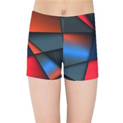 3d And Abstract Kids Sports Shorts