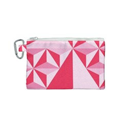 3d Pattern Experiments Canvas Cosmetic Bag (small)