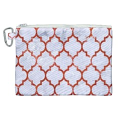 Tile1 White Marble & Red Marble (r) Canvas Cosmetic Bag (xl) by trendistuff