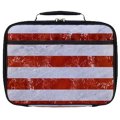 Stripes2white Marble & Red Marble Full Print Lunch Bag by trendistuff